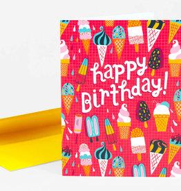 Allison Cole Ice Cream Birthday Greeting Card - Allison Cole