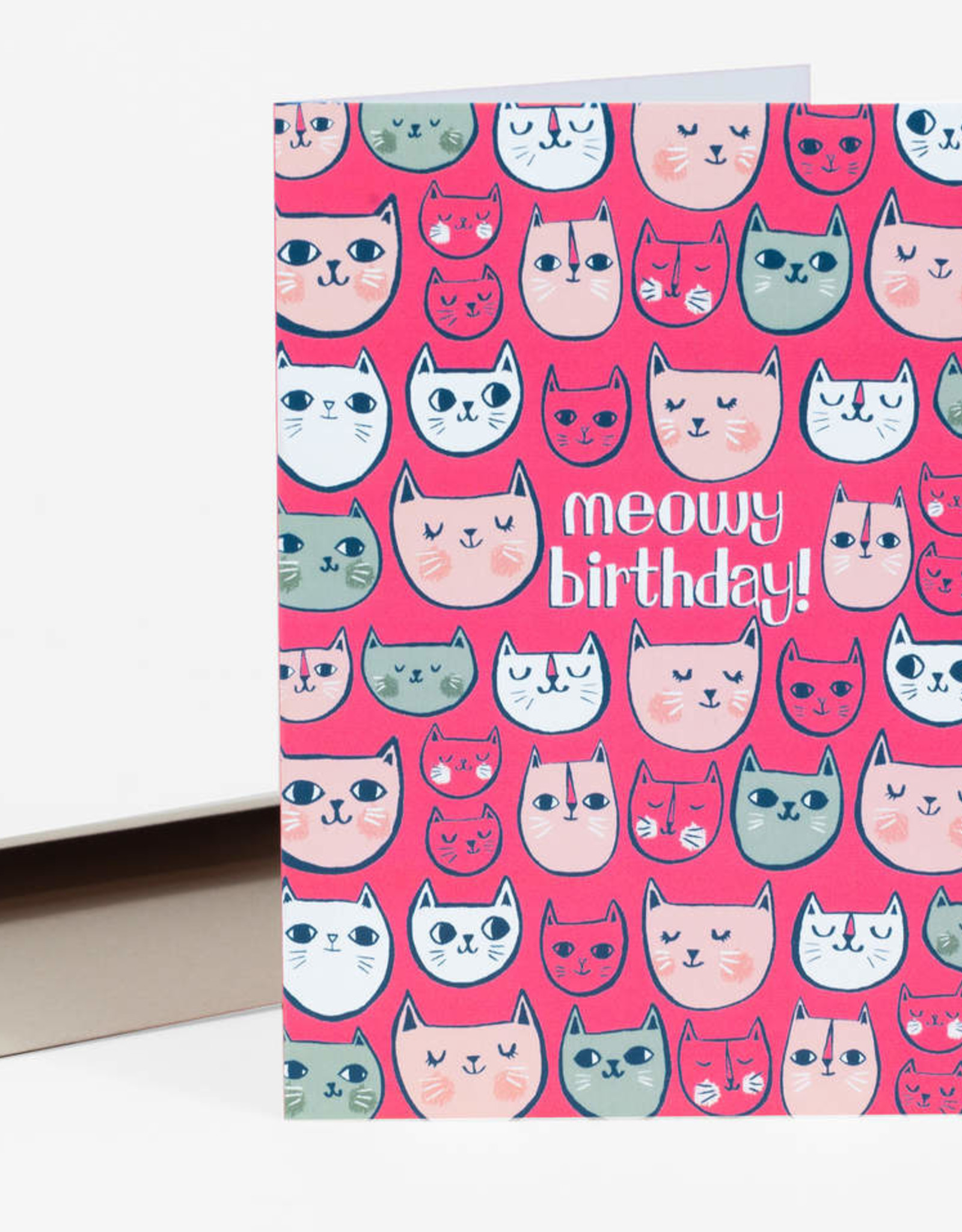 "Allison Cole ""Meowy Birthday"" Greeting Card - Allison Cole"