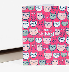 """Meowy Birthday"" Greeting Card - Allison Cole"