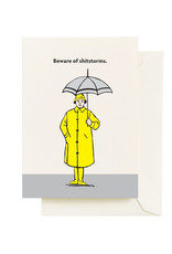 """Seltzer """"Beware of Shitstorms"""" Sympathy Greeting Card - Seltzer"""