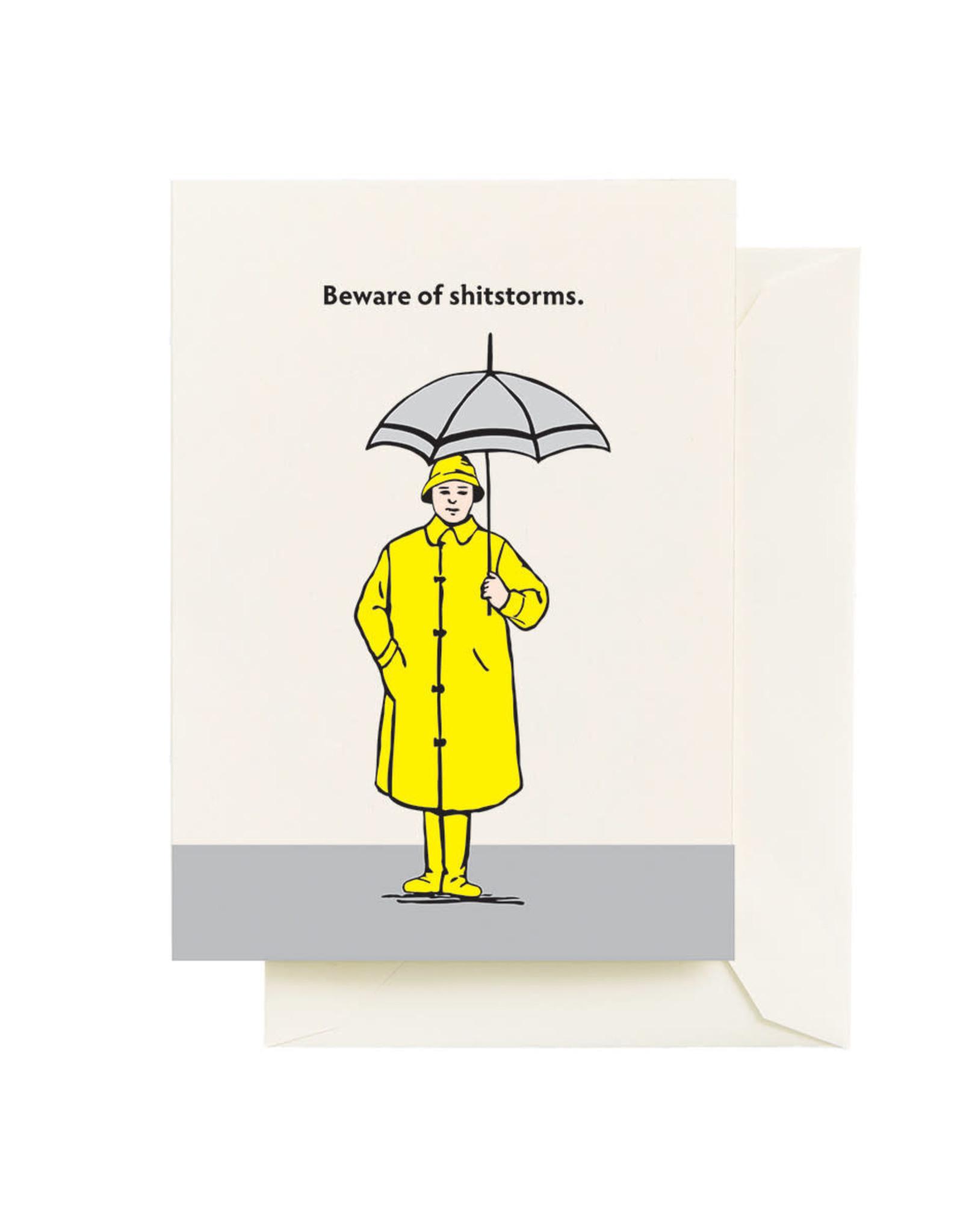 Seltzer Shit Storms Greeting Card - Seltzer
