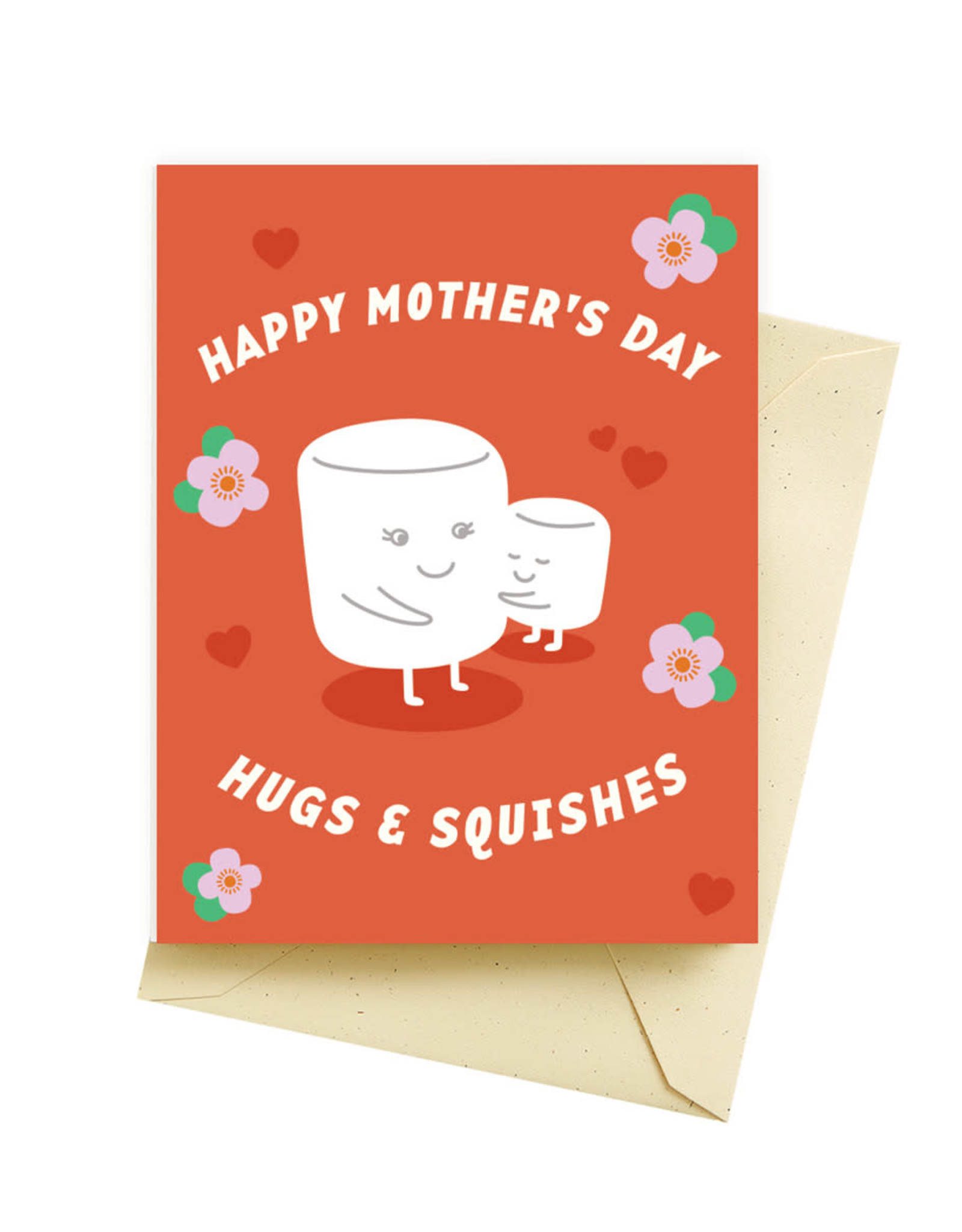 Seltzer Hugs Squishes Mothers Day Greeting Card - Seltzer