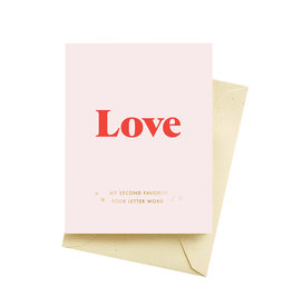 Seltzer Favorite Word Love Greeting Card - Seltzer