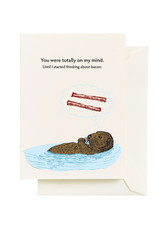 Seltzer Thinking Bacon Greeting Card - Seltzer