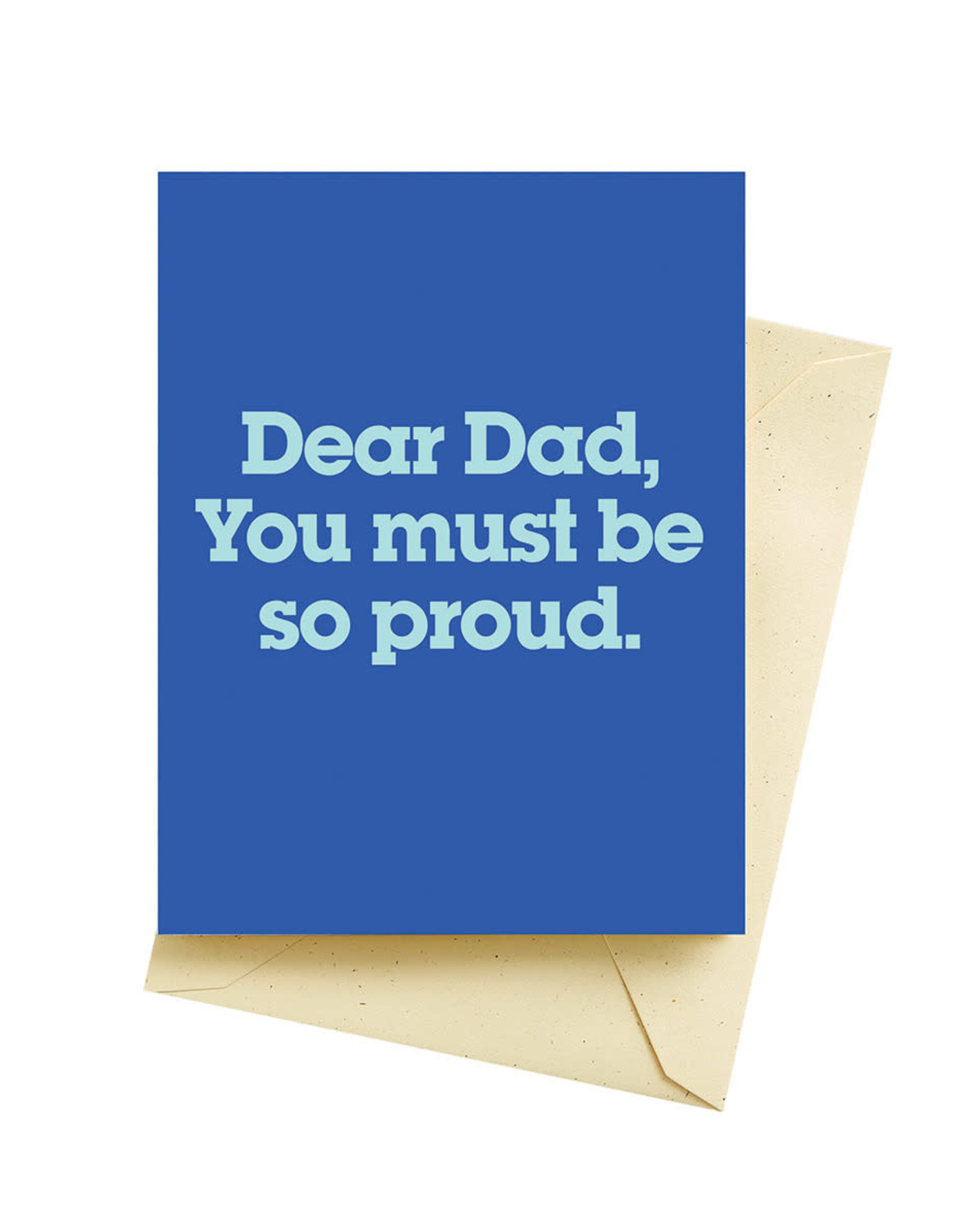 Seltzer Proud Fathers Day Greeting Card - Seltzer