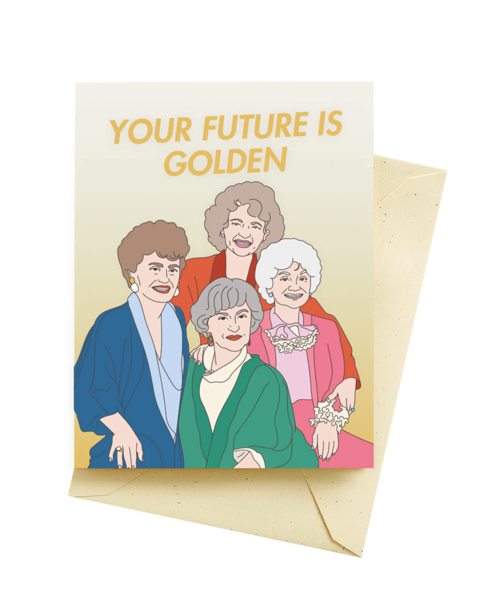 Seltzer Golden Congratulations Greeting Card - Seltzer