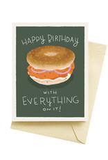 Seltzer Bagel Birthday Greeting Card - Seltzer