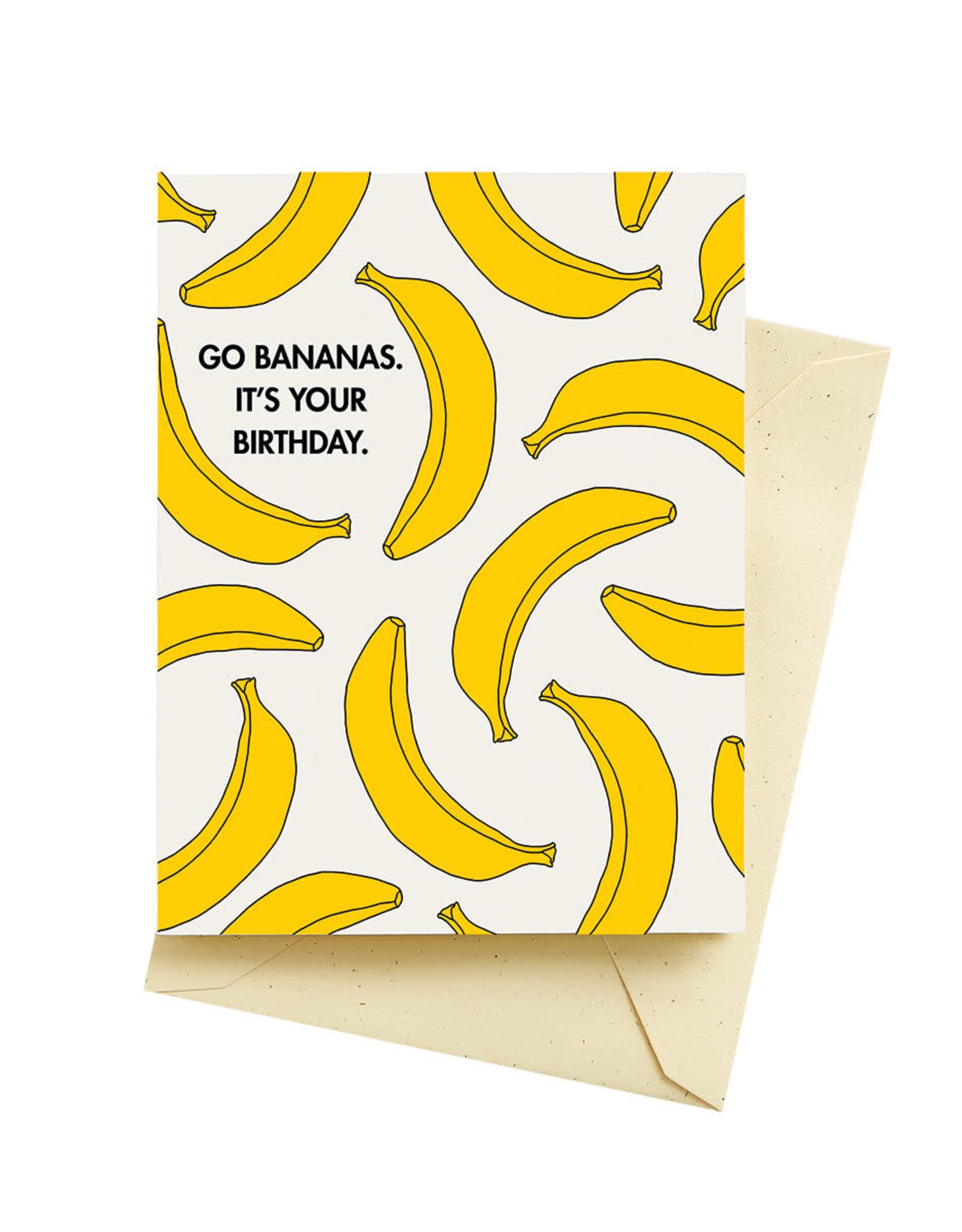 Seltzer Bananas Birthday Greeting Card - Seltzer