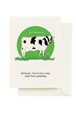 Seltzer Cow Birthday Greeting Card - Seltzer