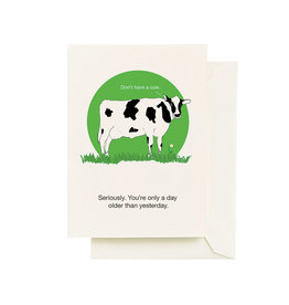 Seltzer Cow Birthday Greeting Card - Seltzer