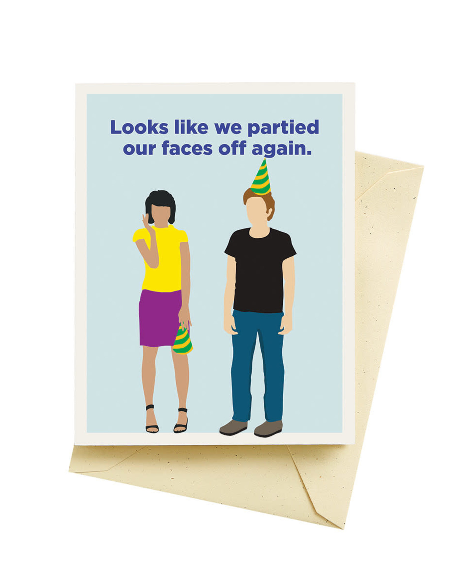 Seltzer Faces Off Birthday Greeting Card - Seltzer