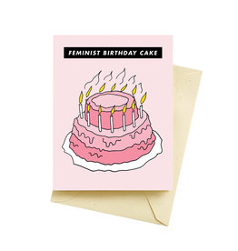 Seltzer Feminist Cake Birthday Greeting Card - Seltzer