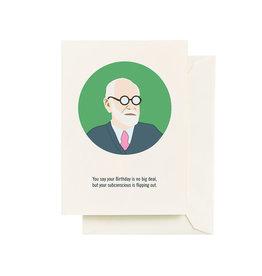 Seltzer Freud Birthday Greeting Card - Seltzer