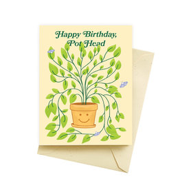 Seltzer Pot Head Birthday Greeting Card - Seltzer