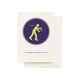 Seltzer Scissors Birthday Greeting Card - Seltzer