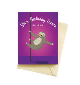 Seltzer Sloth Dance Birthday Greeting Card - Seltzer