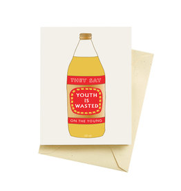 Seltzer Wasted Youth Birthday Greeting Card - Seltzer