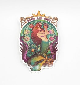 Sous La Mer Mermaid Sticker - Megan Lara