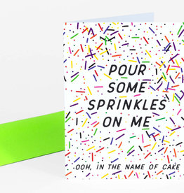 """Pour Some Sprinkles"" Greeting Card - Greenwich Letterpress"