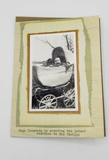 """""""Creating the latest addition"""" Baby Greeting Card - 8mm Ideas"""