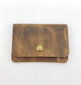 In Blue Handmade Leather Montana Snap Card Wallet