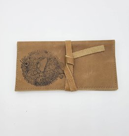 Pufferfish - Simple Leather Checkbook Wallet