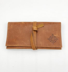 In Blue Handmade Compass - Leather Pocketbook Wallet