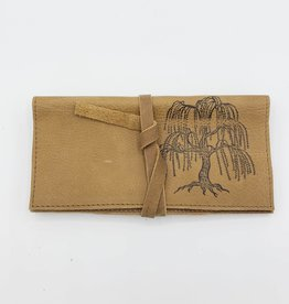 In Blue Handmade Willow Tree - Leather Pocketbook Wallet