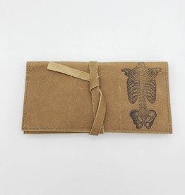 In Blue Handmade Skeleton Torso - Leather Pocketbook Wallet