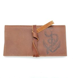 In Blue Handmade Anchor - Leather Pocketbook Wallet