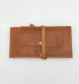 Peacock Feather - Leather Pocketbook Wallet