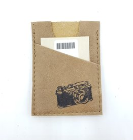 In Blue Handmade Camera - Train Ticket & Card Leather Wallet