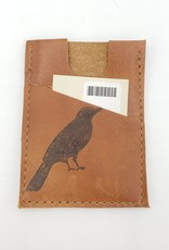 In Blue Handmade Crow - Train Ticket & Card Leather Wallet