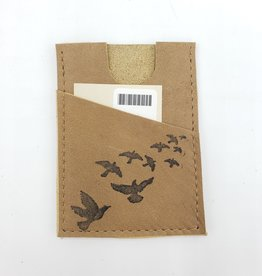 In Blue Handmade Flock of Birds - Train Ticket & Card Leather Wallet