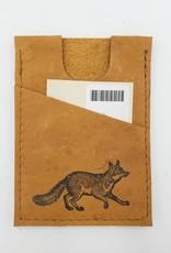 In Blue Handmade Fox - Train Ticket & Card Leather Wallet