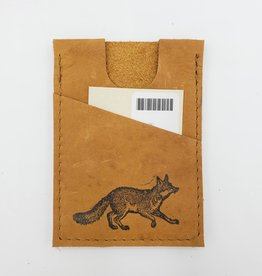 In Blue Handmade Fox - Train Ticket & Card Leather Wallet