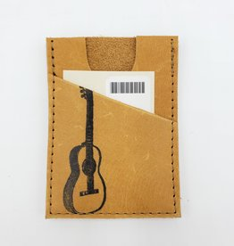 Guitar - Train Ticket & Card Leather Wallet