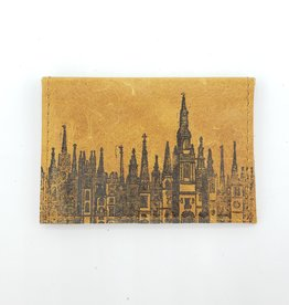 Cityscape - Leather Fold Over Card Wallet