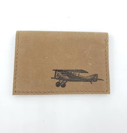 Airplane - Leather Fold Over Card Wallet