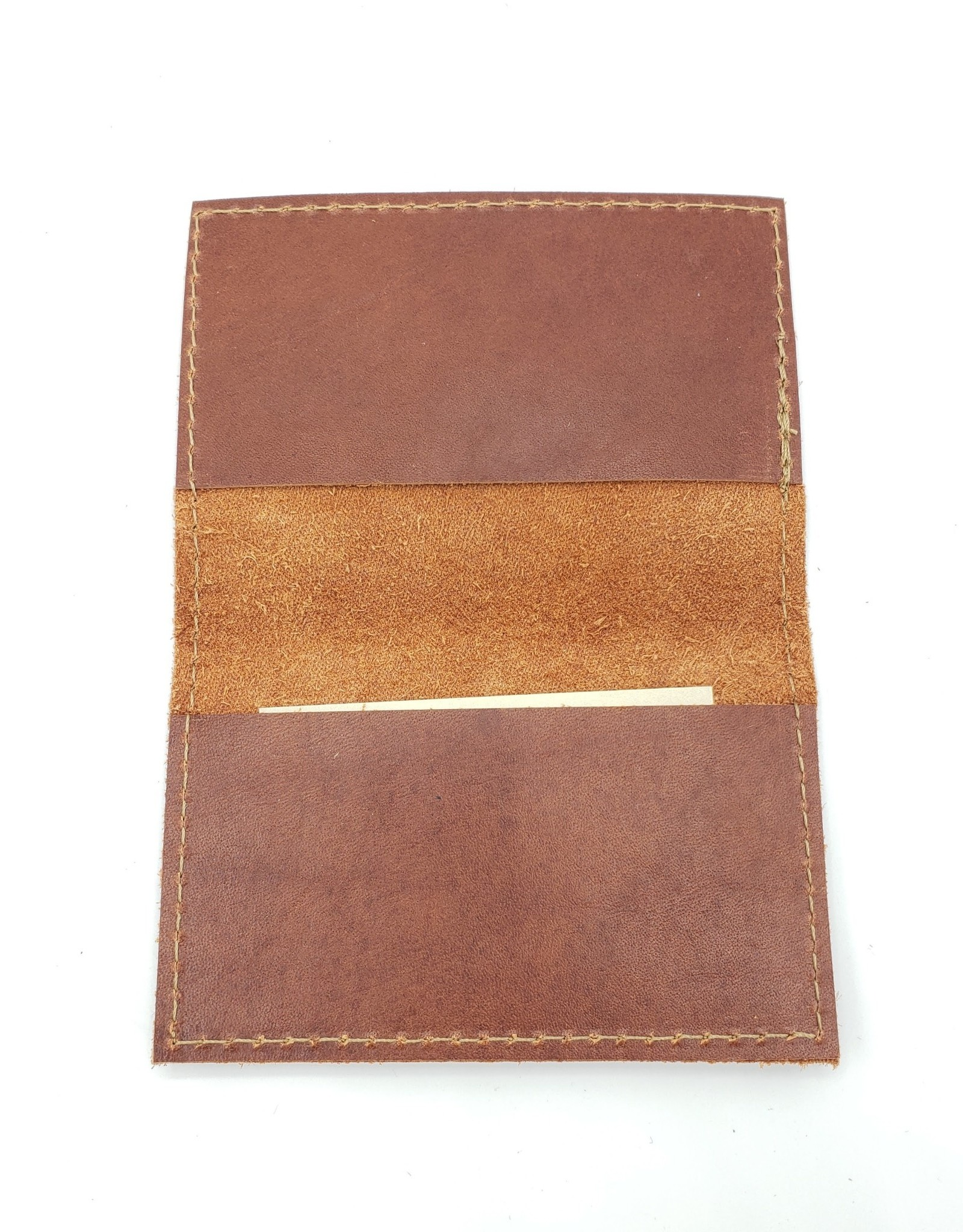 In Blue Handmade Falcon - Leather Fold Over Card Wallet