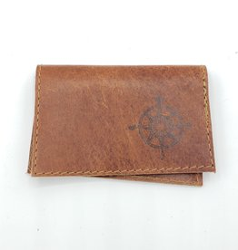 Compass - Leather Fold Over Card Wallet