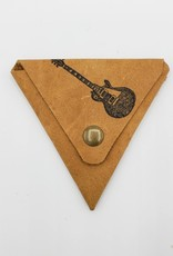 In Blue Handmade Electric Guitar - Triangle Leather Coin Pouch