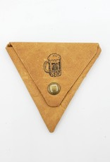 In Blue Handmade Beer - Triangle Leather Coin Pouch
