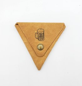 Beer - Triangle Leather Coin Pouch