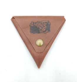 Camera - Triangle Leather Coin Pouch