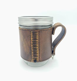 Leather Ball Jar Corvid Mason Mug