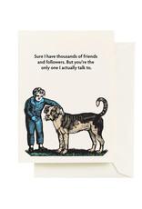 Seltzer ''Friends & Followers'' Greeting Card - Seltzer