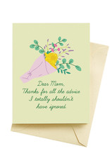 Seltzer Advice - Happy Mother's Day Greeting Card - Seltzer