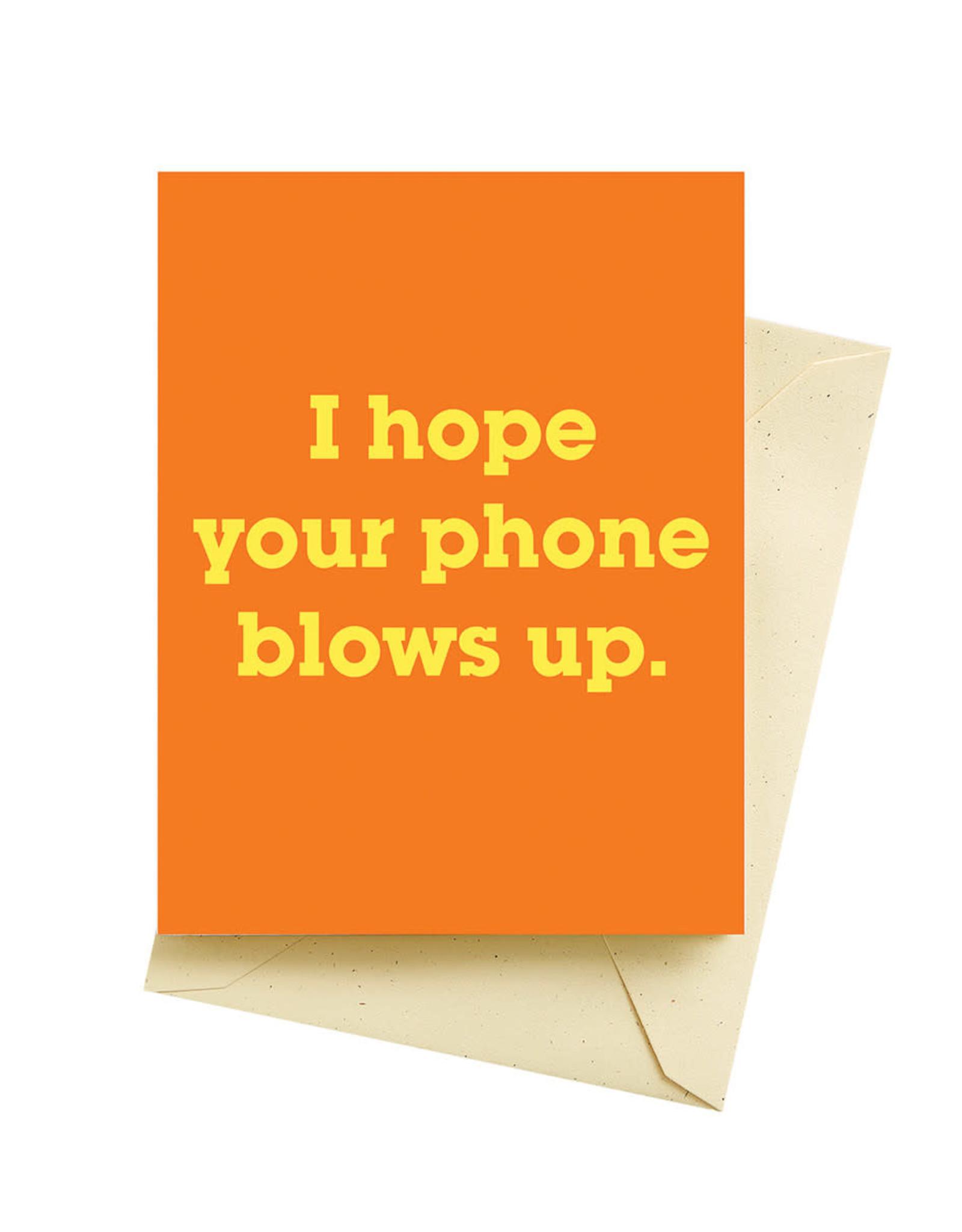 Seltzer Blow Up Birthday Greeting Card - Seltzer