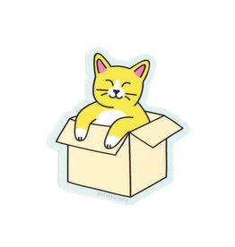 Seltzer Cat in a Box Sticker - Seltzer